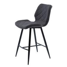 Полубарный стул Diamond серый графит