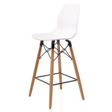 Полубарный стул Friend белый