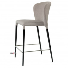 Полубарний стілець Arthur світло-сірий