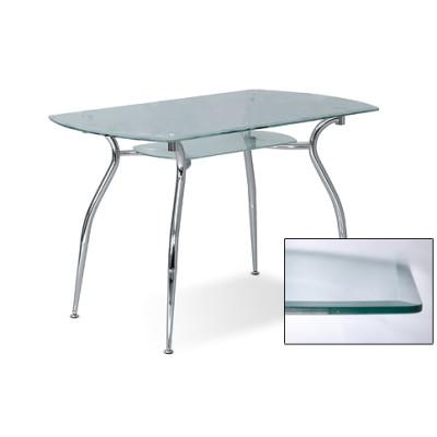Стол стеклянный CRISTAL F CHROME