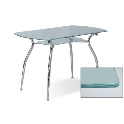 Стол стеклянный CRISTAL P CHROME