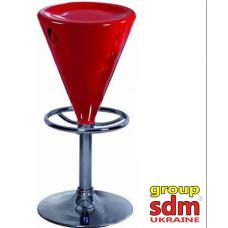 Стул барный SDM Коно хром красный
