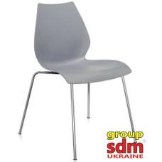 Штабельований стілець Лілі хром сірий