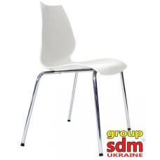 Штабельований стілець Лілі хром білий