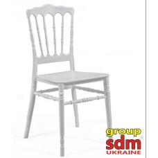 Штабельований стілець Наполеон білий
